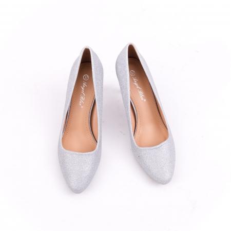 Pantof elegant 658 argintiu5