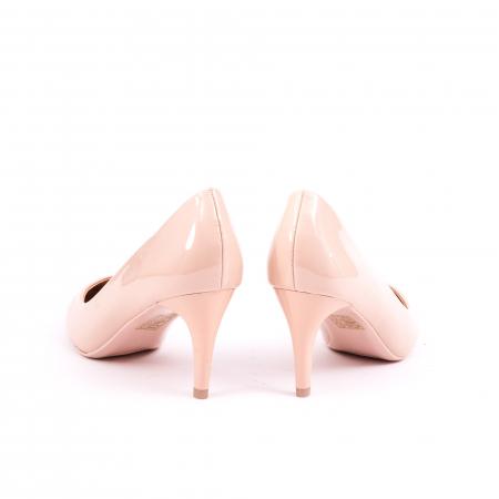 Pantof elegant 658 nude lac