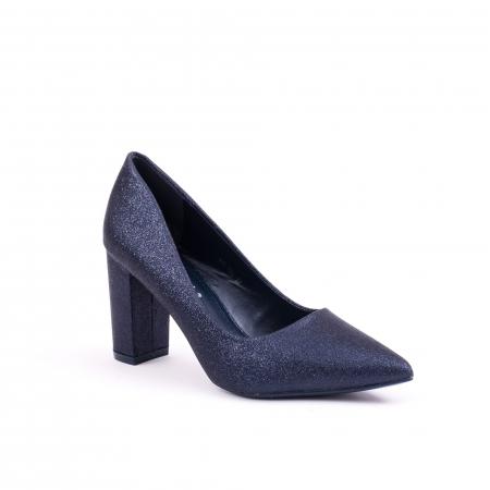 Pantof elegant 660 bleumarin glitter