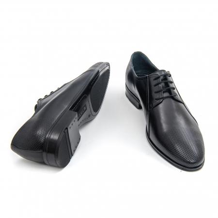 Pantofi barbati eleganti Leofex 743 piele naturala, negru2