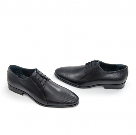 Pantofi barbati eleganti Leofex 743 piele naturala, negru1