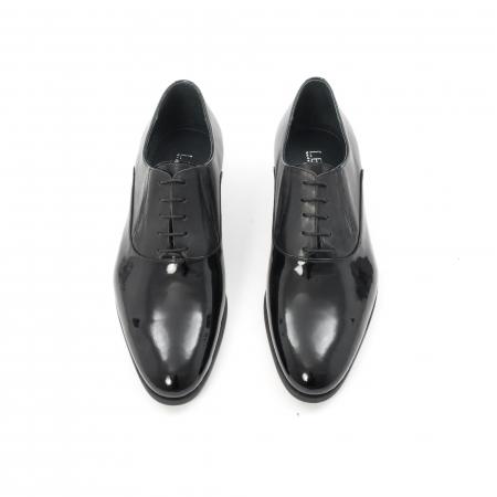 Pantof elegant barbat LFX 526 negru box cu lac.5