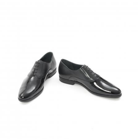 Pantof elegant barbat LFX 526 negru box cu lac.4