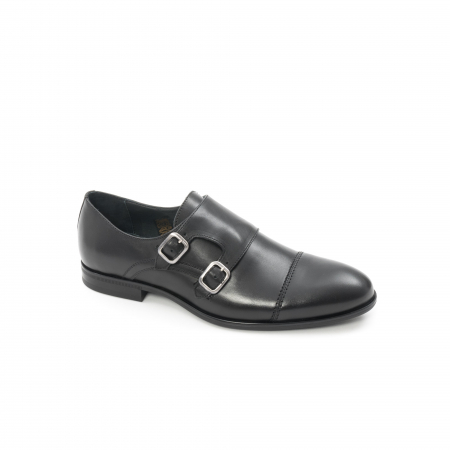 Pantofi barbati eleganti piele naturala Leofex 933, negru