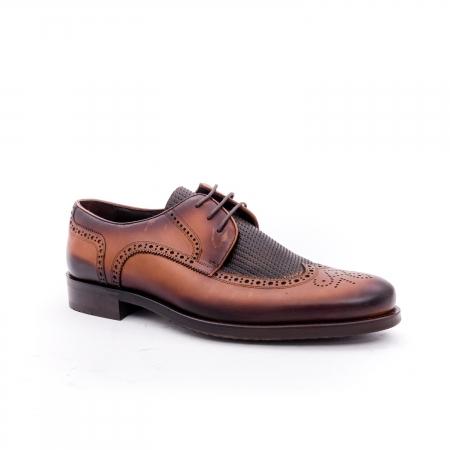 Pantofi barbati eleganti piele naturala Otter YE185, maro