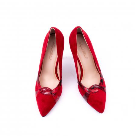 Pantof elegant dama 9511 rosu5