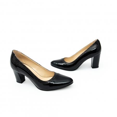 Pantof elegant dama cod 1012 negru lac4