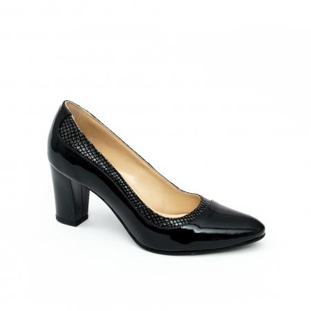 Pantof elegant dama cod 1012 negru lac0