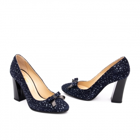 Pantof elegant dama -cod 1110 BGE  bleumarin glitter1