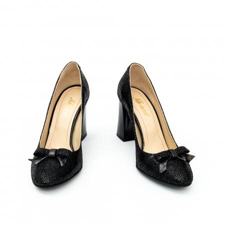 Pantof elegant dama -cod 1110 negru  glitter4