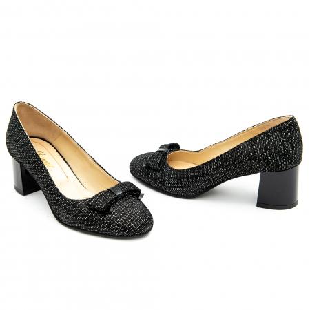 Pantof elegant dama ,cod 1111 negru cu picatele3