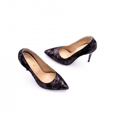 Pantof elegant dama marca Nike Invest 1167 negru argintiu