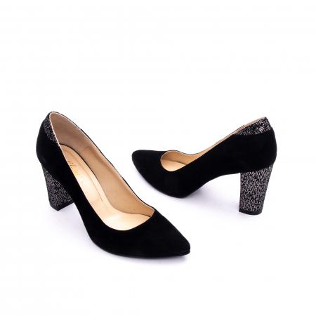 Pantof elegant dama marca Nike Invest 1197 negru velur1