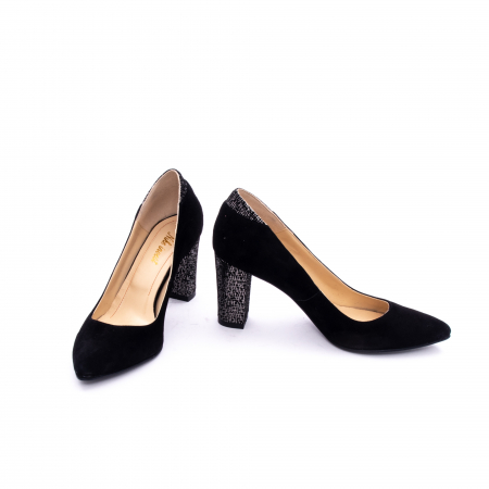 Pantof elegant dama marca Nike Invest 1197 negru velur3