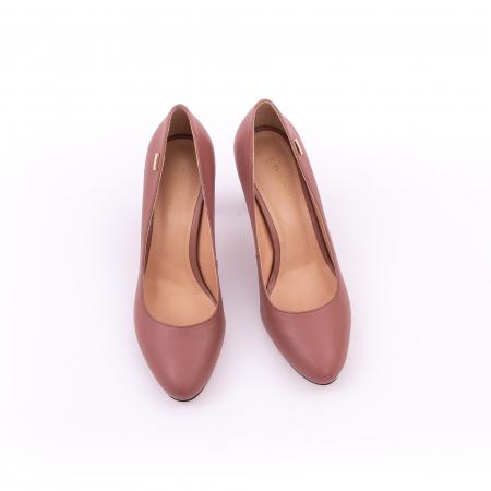 Pantofi dama eleganti, piele naturala, Epica 0305-C200A, roz prafuit inchis