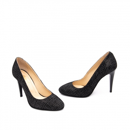 Pantof elegant stiletto -cod 1112 AN negru piper2