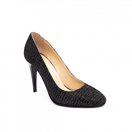 Pantof elegant stiletto -cod 1112 AN negru piper0