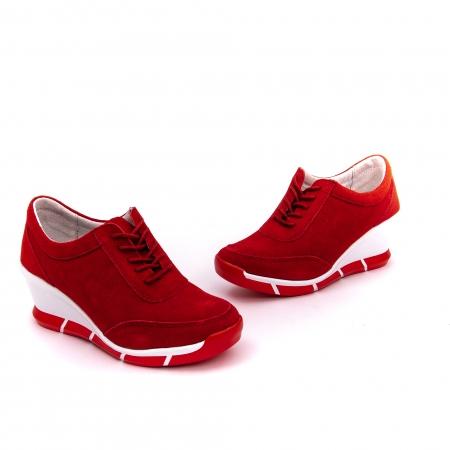Pantof sport dama cod VK-F001-441 red suede