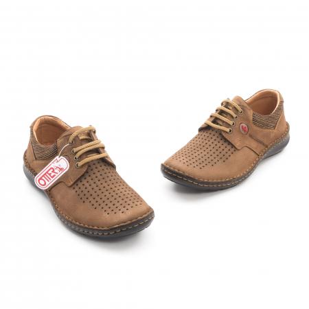 Pantofi barbati de vara piele naturala Otter 9560 04-2, coniac1