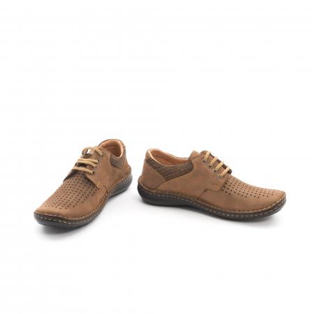 Pantofi barbati de vara piele naturala Otter 9560 04-2, coniac4