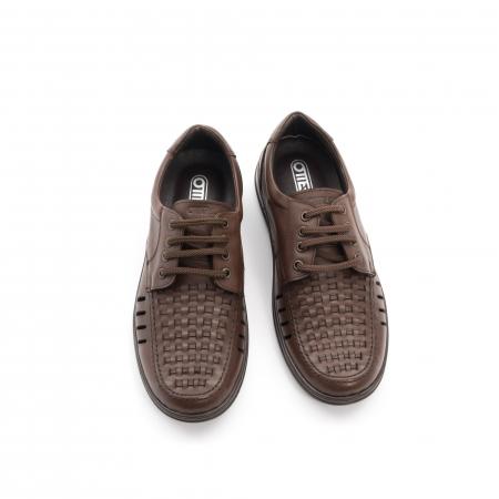 Pantofi barbati vara, piele naturala, Otter 149 C4-N, maro5