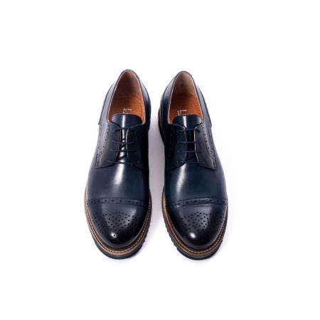 Pantofi barbati casual, piele naturala, Leofex 537, bleumarin5