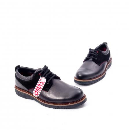 Pantofi barbati casual piele naturala, Otter 020, negru1