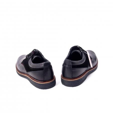 Pantofi barbati casual piele naturala, Otter 020, negru6