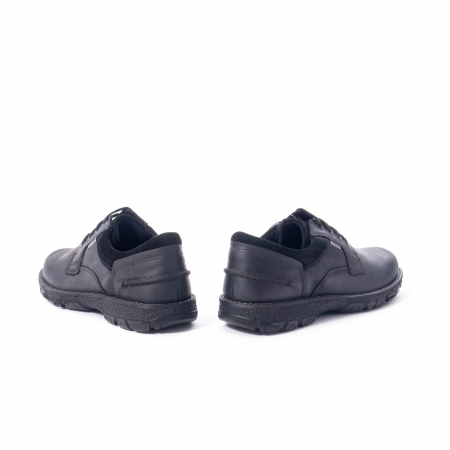 Pantofi barbati casual piele naturala Imac ic402428, negru6