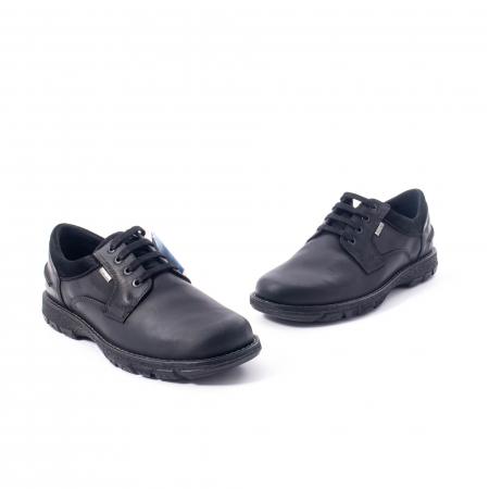 Pantofi barbati casual piele naturala Imac ic402428, negru1