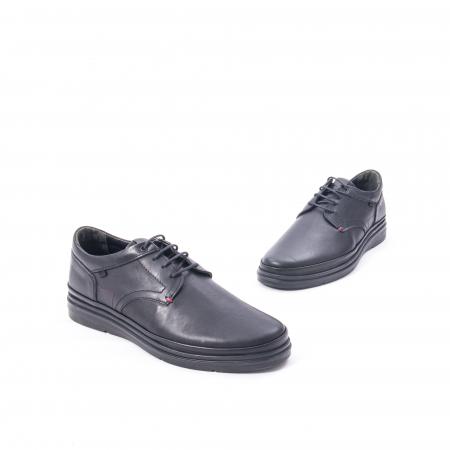 Pantofi casual barbat din piele naturala Otter 5318 negru1