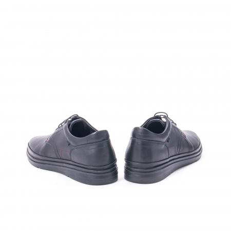 Pantofi casual barbat din piele naturala Otter 5318 negru6