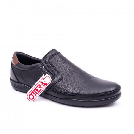 Pantofi barbati casual piele naturala Otter 220, negru0