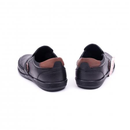 Pantofi barbati casual piele naturala Otter 220, negru6