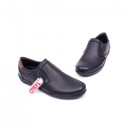 Pantofi barbati casual piele naturala Otter 220, negru1