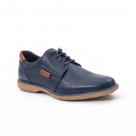 Pantofi casual barbat,piele naturala Catali 182505,bleumarin