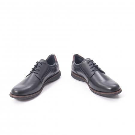 Pantofi casual barbat piele naturala, Catali 182505 negru4