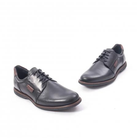 Pantofi casual barbat piele naturala, Catali 182505 negru1