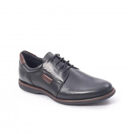 Pantofi casual barbat piele naturala, Catali 182505 negru0