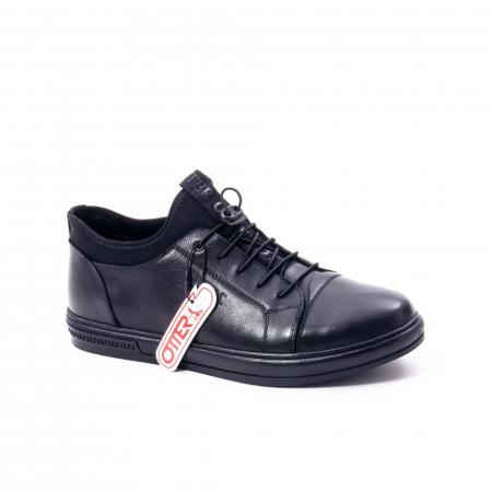 Pantofi casual barbat, piele naturala, Otter QRA42617 01-N negru0