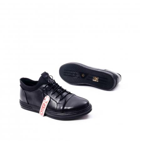 Pantofi casual barbat, piele naturala, Otter QRA42617 01-N negru3