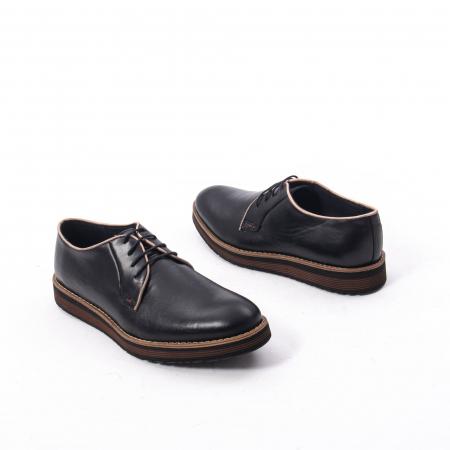 Pantofi casual barbati din piele naturala, Catali 505, negru2