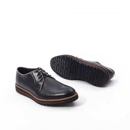 Pantofi casual barbati din piele naturala, Catali 505, negru3