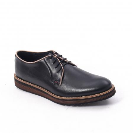 Pantofi casual barbati din piele naturala, Catali 505, negru0