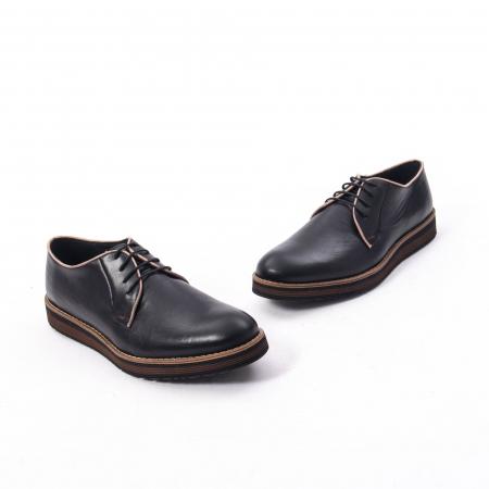 Pantofi casual barbati din piele naturala, Catali 505, negru1