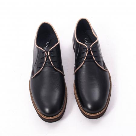 Pantofi casual barbati din piele naturala, Catali 505, negru5