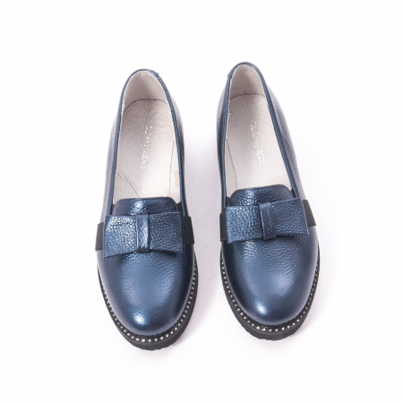Pantofi casual dama ,piele naturala, Catali 172615 bleumarin5