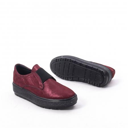 Pantofi casual dama piele naturala Catali 192858, bordo5