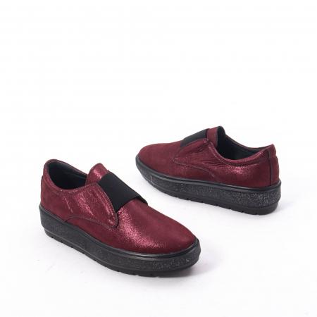Pantofi casual dama piele naturala Catali 192858, bordo6
