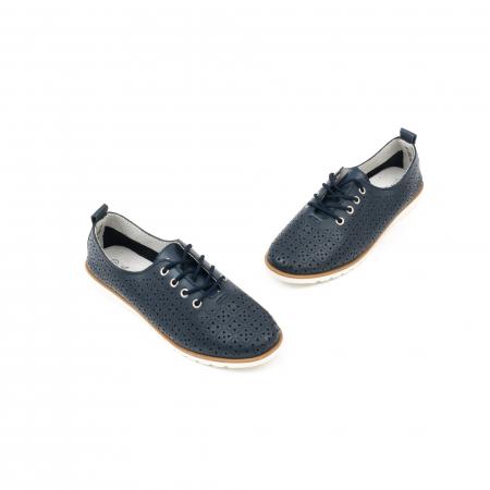 Pantofi casual de vara dama 102 navy1